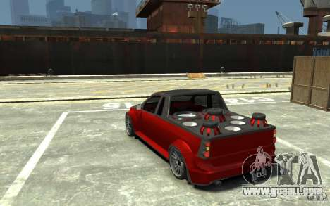 Dacia Pick-up Tuning for GTA 4 back left view