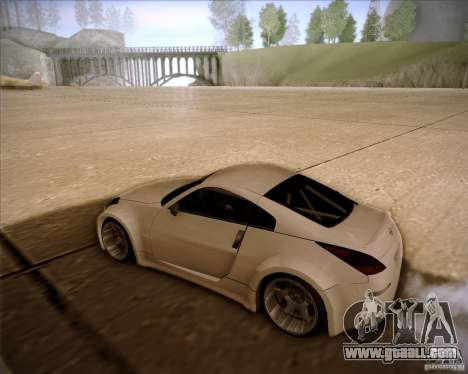 Nissan 350Z AdHoc for GTA San Andreas back left view