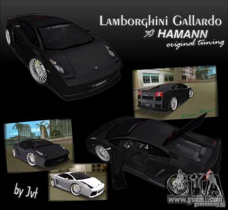 Lamborghini Gallardo Hamann Tuning for GTA Vice City