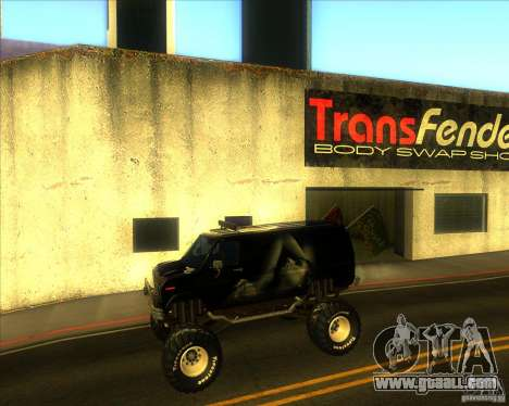 Ford E-250 monster truck 1986 for GTA San Andreas left view