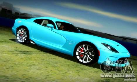 Dodge Viper SRT  GTS for GTA San Andreas right view