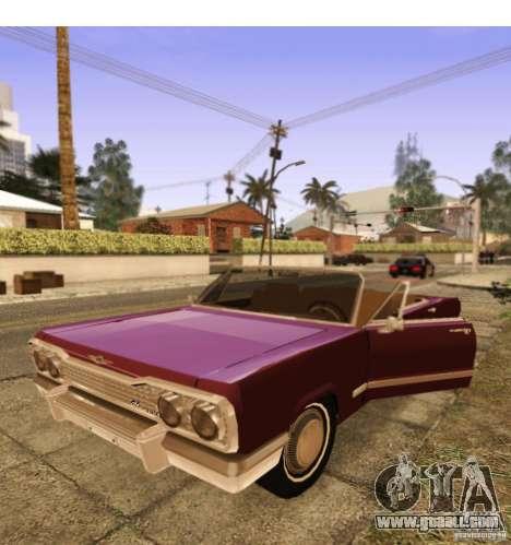 Savanna Detroit 1965 ( v. 2 ) for GTA San Andreas back view