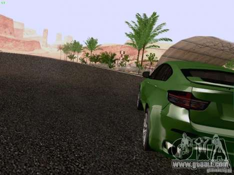 BMW X6 LT for GTA San Andreas back left view