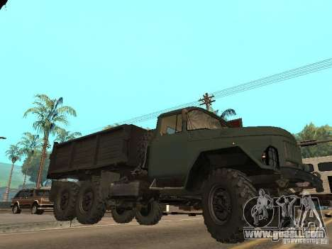 ZIL 131 Truck for GTA San Andreas bottom view