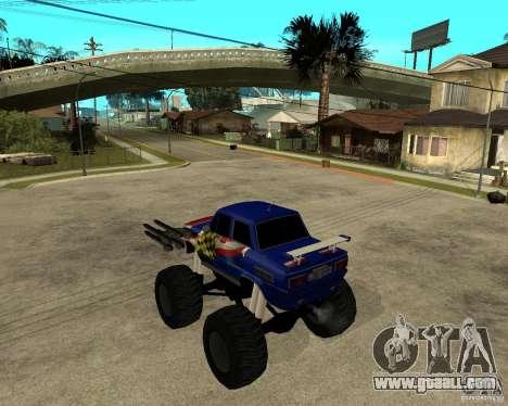 ZAZ MONSTER for GTA San Andreas left view
