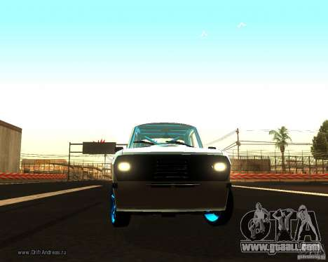 Gaz Volga 2410 Drift Edition for GTA San Andreas inner view