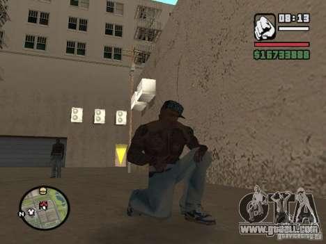 Blue Nike Air Force for GTA San Andreas forth screenshot