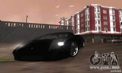Lamborghini Gallardo for GTA San Andreas bottom view