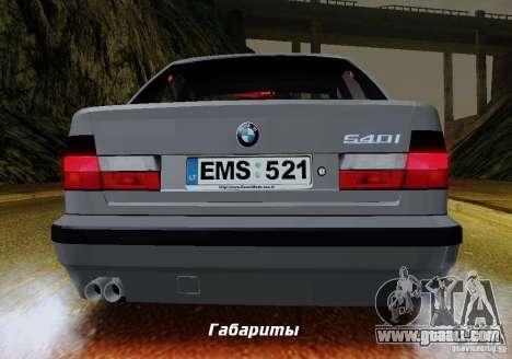BMW E34 540i Tunable for GTA San Andreas bottom view