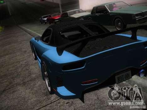 Mazda RX 7 Veil Side for GTA San Andreas bottom view