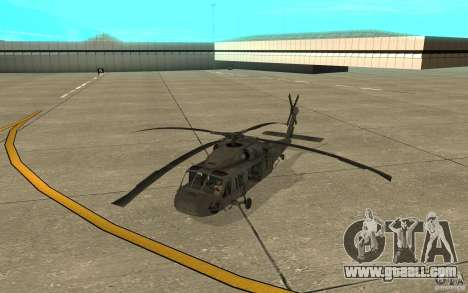 UH-60 Black Hawk for GTA San Andreas left view