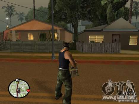 M134 Minigun from CoD: Mw2 for GTA San Andreas sixth screenshot