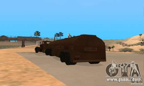 Trailer Duel Peterbilt for GTA San Andreas right view