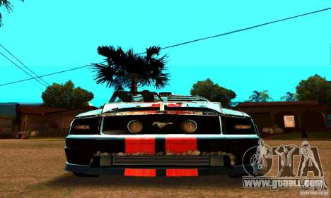 Ford Mustang Shelby GT500 From Death Race Script for GTA San Andreas side view