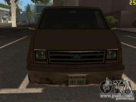 Moonbeam Pickup for GTA San Andreas inner view