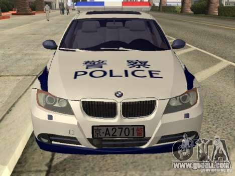BMW 3 Series China Police for GTA San Andreas right view