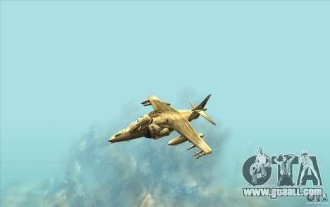 Harrier GR7 for GTA San Andreas