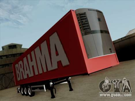 Trailer for Scania R620 Brahma for GTA San Andreas left view