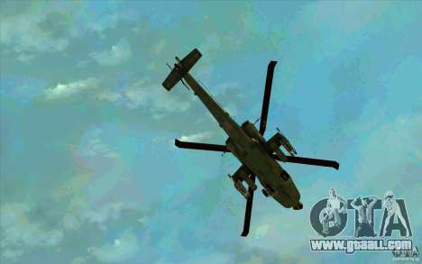 Apache AH64D Longbow for GTA San Andreas bottom view