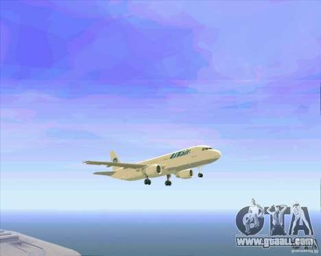 Airbus A-320 airline UTair for GTA San Andreas engine