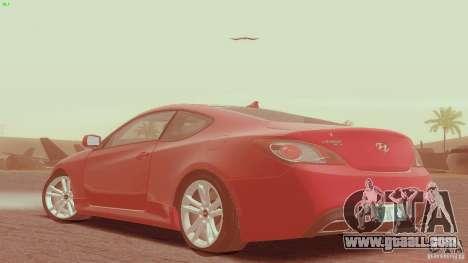 Hyundai Genesis Tunable for GTA San Andreas left view