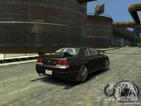 Nissan Skyline GT-R V-Spec (R33) 1997 for GTA 4 back left view