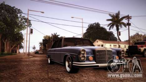 Mercedes Benz 300 SEL - Custom RC3D Edit for GTA San Andreas inner view