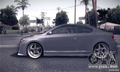 Scion Tc Street Tuning for GTA San Andreas left view