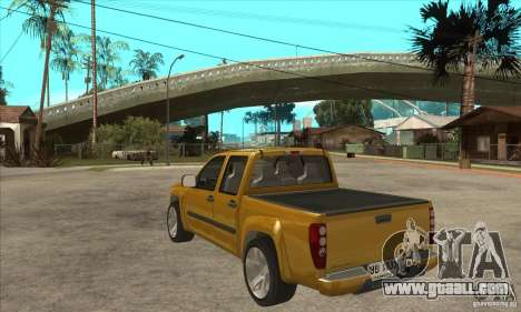 GMC Canyon 2007 for GTA San Andreas back left view