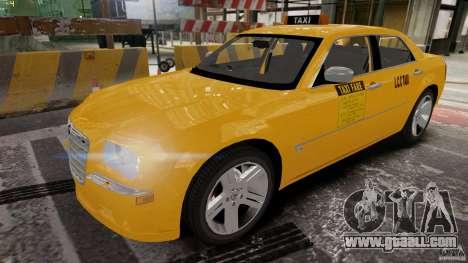 Chrysler 300c 3.5L TAXI FINAL for GTA 4