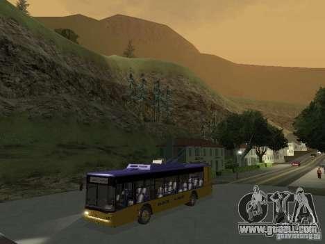 Trolleybus LAZ e-183 for GTA San Andreas