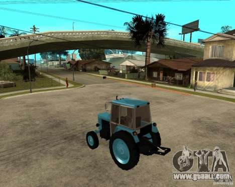 Tractor Belarus 80.1 and trailer for GTA San Andreas left view