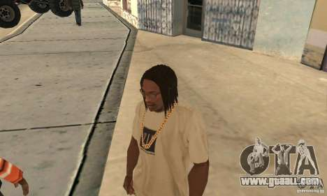 Long dark hair for GTA San Andreas