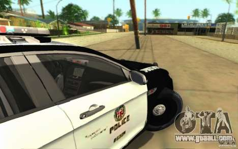 Ford Taurus 2011 LAPD Police for GTA San Andreas back view