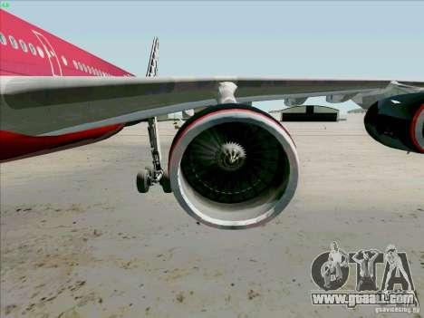 Airbus A-340-600 Formula 1 for GTA San Andreas inner view