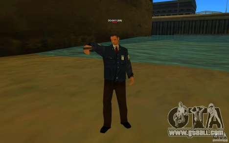 HQ skin FBI for GTA San Andreas second screenshot