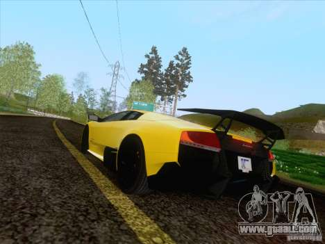 Lamborghini Murcielago LP670–4 SuperVeloce for GTA San Andreas left view