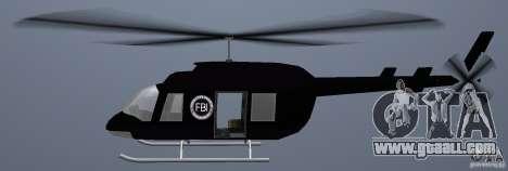 FBI Maverick for GTA Vice City back left view