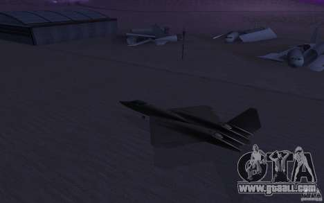 YF-23 for GTA San Andreas left view
