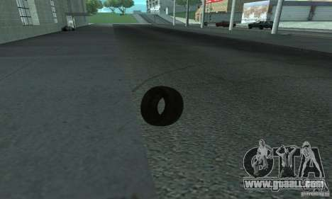 Tires for GTA San Andreas back left view