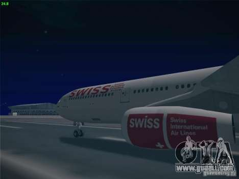 Airbus A340-300 Swiss International Airlines for GTA San Andreas back view