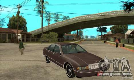 Chevrolet Caprice 1991 for GTA San Andreas side view