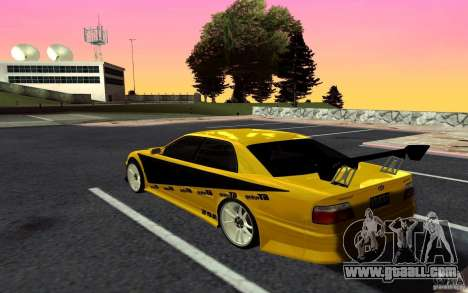 Toyota Chaser JZX100 for GTA San Andreas back left view
