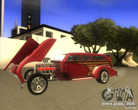 Custom Woody Hot Rod for GTA San Andreas right view