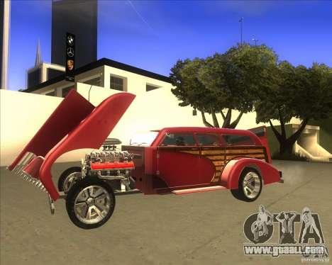 Custom Woody Hot Rod for GTA San Andreas right view