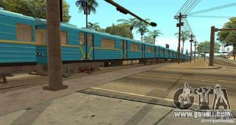 Metro type HEDGEHOG for GTA San Andreas back view