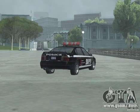 Cop Car Chevrolet for GTA San Andreas back left view