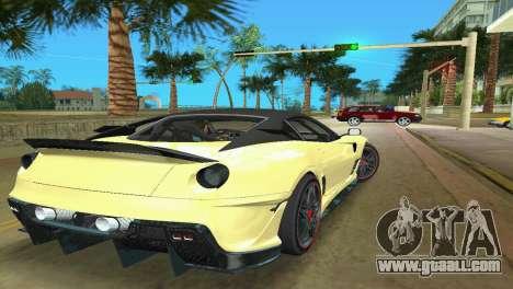 Ferrari 599XX for GTA Vice City right view