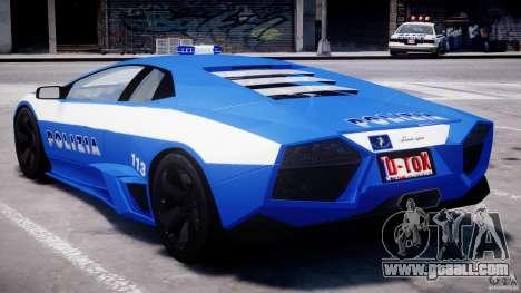Lamborghini Reventon Polizia Italiana for GTA 4 interior