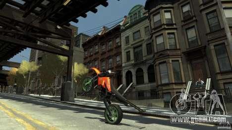 Stunt Supermotard Sanchez for GTA 4 back view
